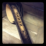 "Leather Guitar Strap ""Jason strap"" - M & W Leather"