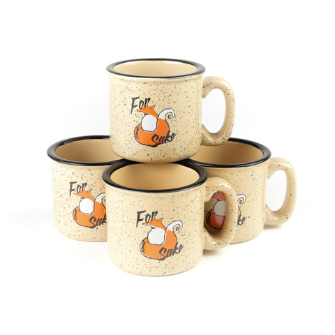 set of fox sake coffee mugs