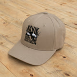 Kavik River Camp Embroidered Hat on wood background
