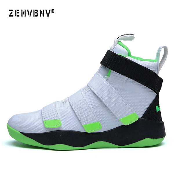 586e65d7fcce Zenvbnv New Lebron James Professional Basketball Shoes Men Sport Sneakers  Mens Breathable Air Zoom Cushion Hook Loop Male Shoes