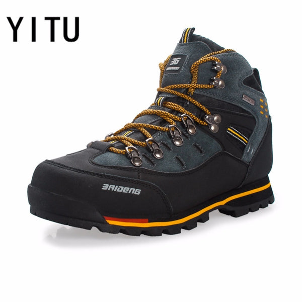 0597904bc8f YITU Breathable Outdoor Hiking Shoes Camping Mountain Climbing Hiking Boots  Men Waterproof Sport Fishing Boots Trekking Sneakers