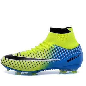 ed7619d98 ... Sufei Football Boots Men High Ankle Superfly Soccer Shoes AG  Professional Outdoor Kids Training Sock Cleats