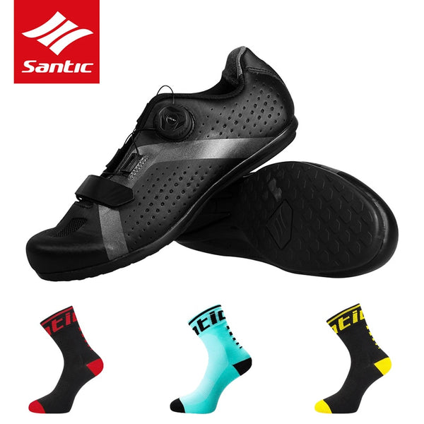 1d271b27c85 SANTIC Cycling Bike Bicycle Shoes Sneaker Breathable Outdoor Sport Professional  Road Bicycle Shoes Non-Slip No-Lock Equipment