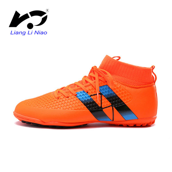 f7b518cd4f8 High Quality Men Soccer Cleats Professional TF High Ankle Football Boots  Superfly Original Indoor Soccer Shoes Crampon Football