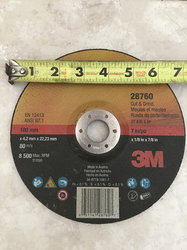 "Baddest Grinding Disk on the planet 7""x 1/8"""