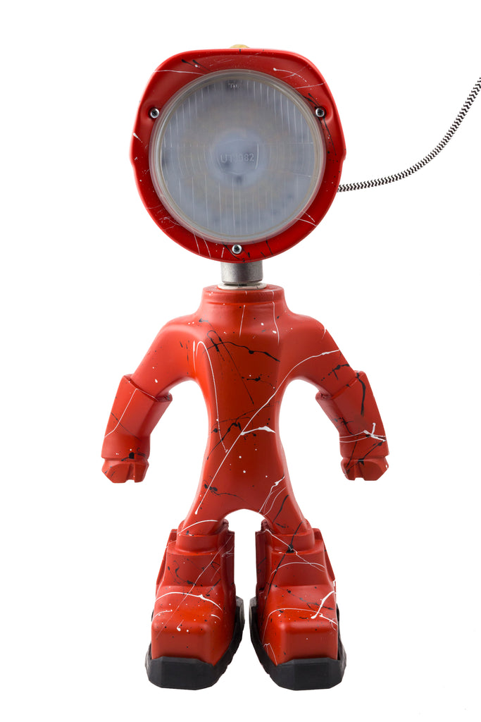 Cool robot lamp Lampster Artsy Red