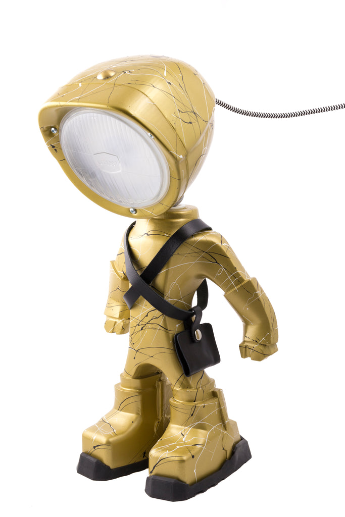 Cool robot lamp Lampster Artsy Gold
