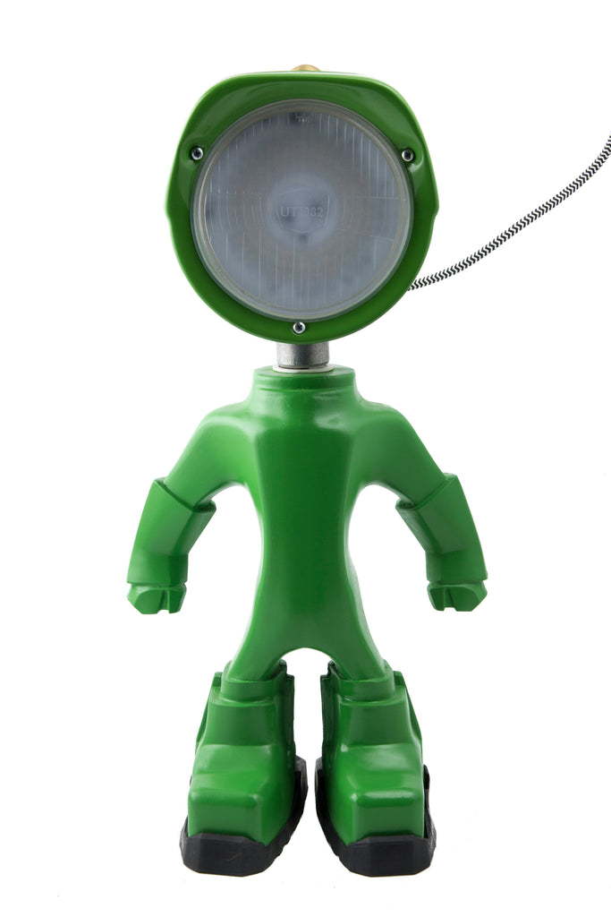 Cool robot lamp Lampster Color Green