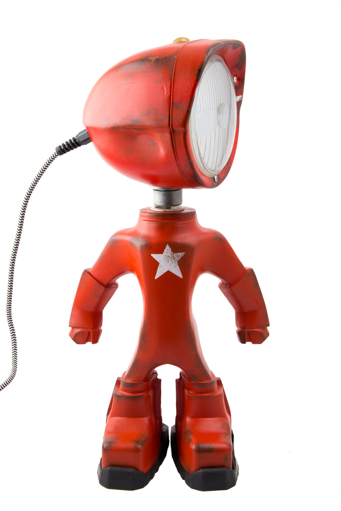 Cool robot lamp Lampster Army Red