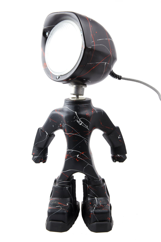 Cool robot lamp Lampster Artsy Black