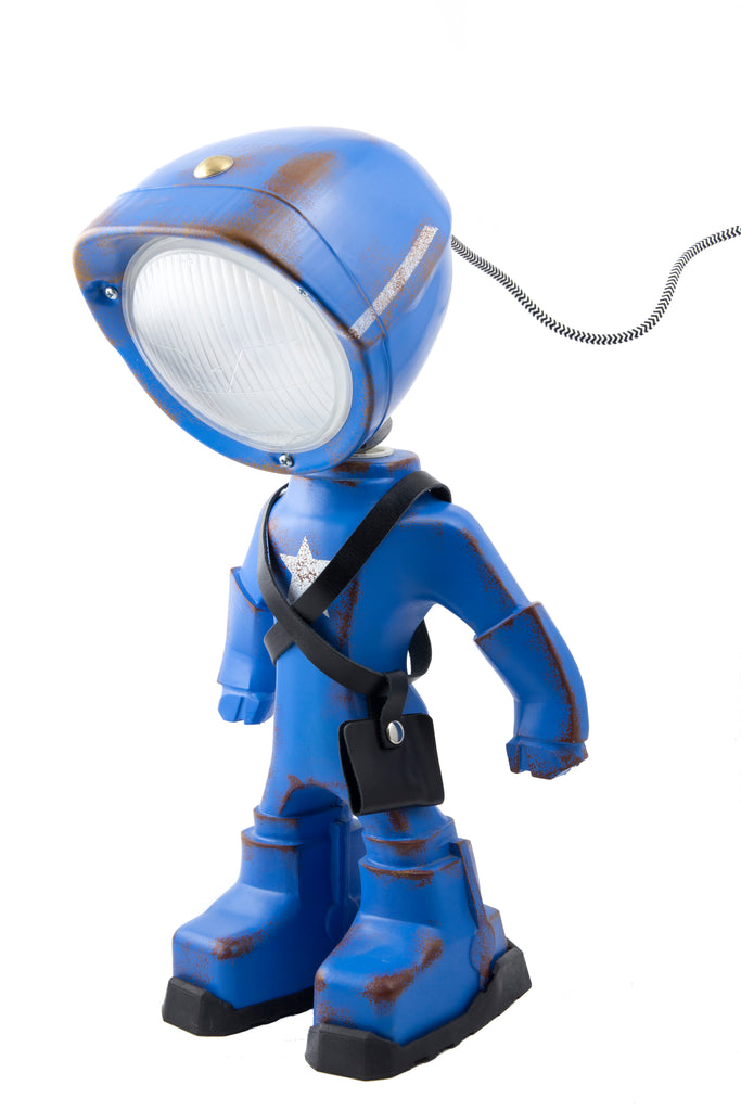 Cool robot lamp Lampster Army Blue