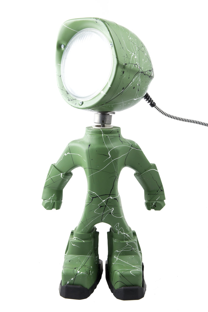 Cool robot lamp Lampster Artsy Green