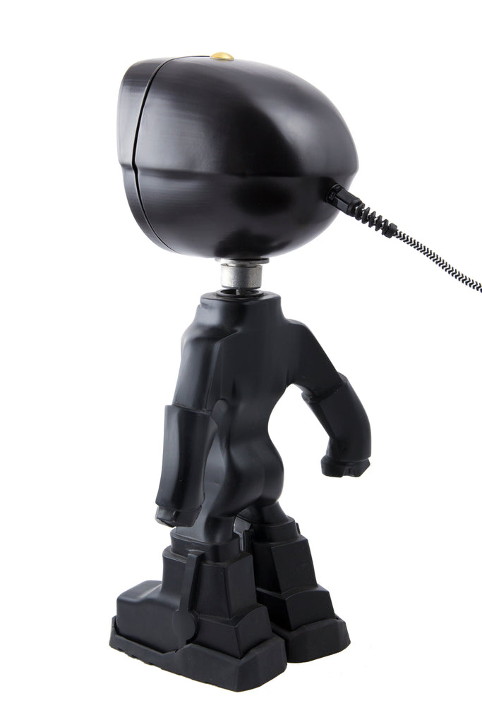 Cool robot lamp Lampster Color Black