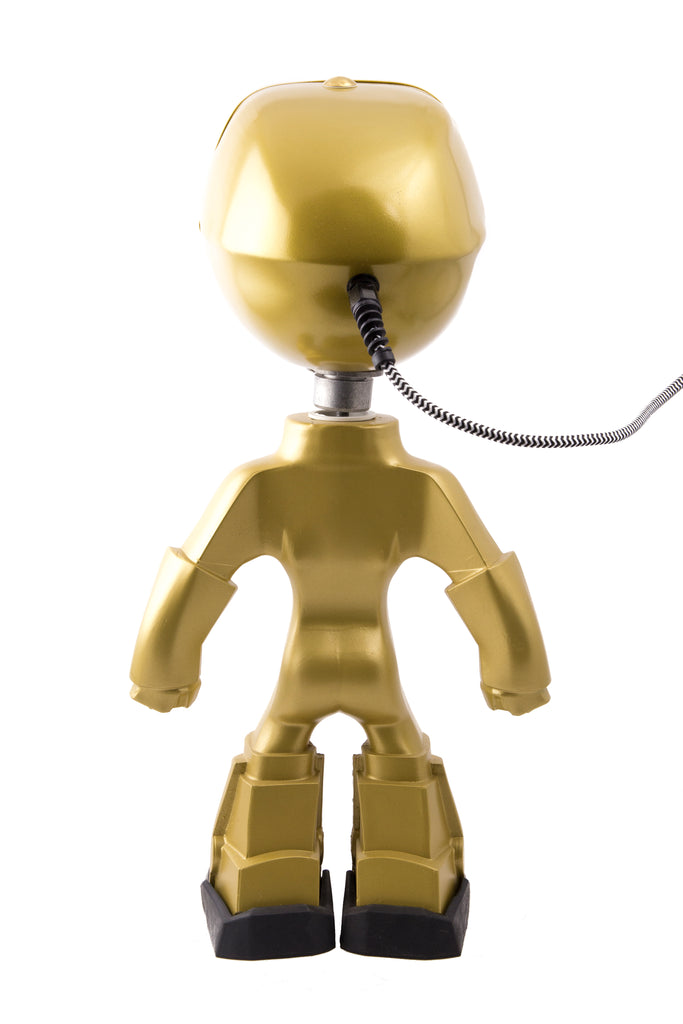 Cool robot lamp Lampster Color Gold