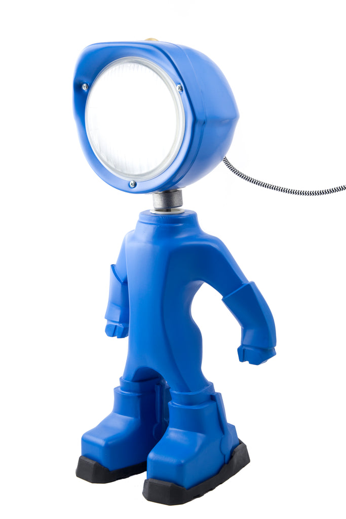 Cool robot lamp Lampster Color Blue