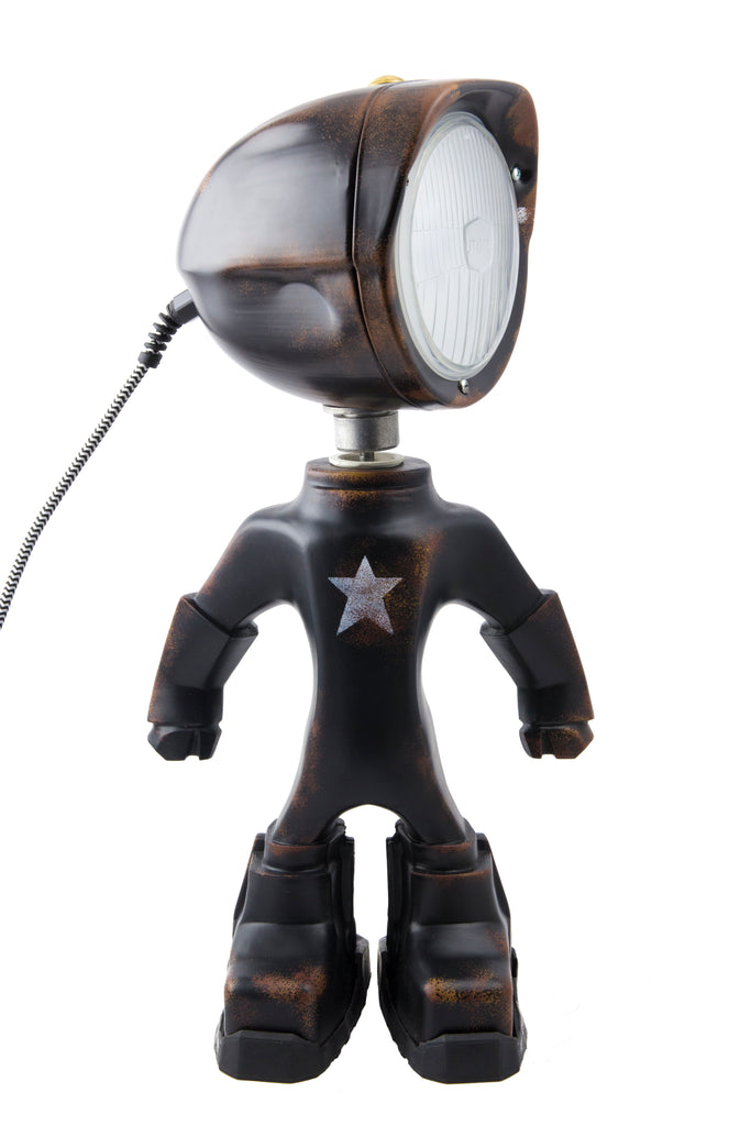 Cool robot lamp Lampster Army Black