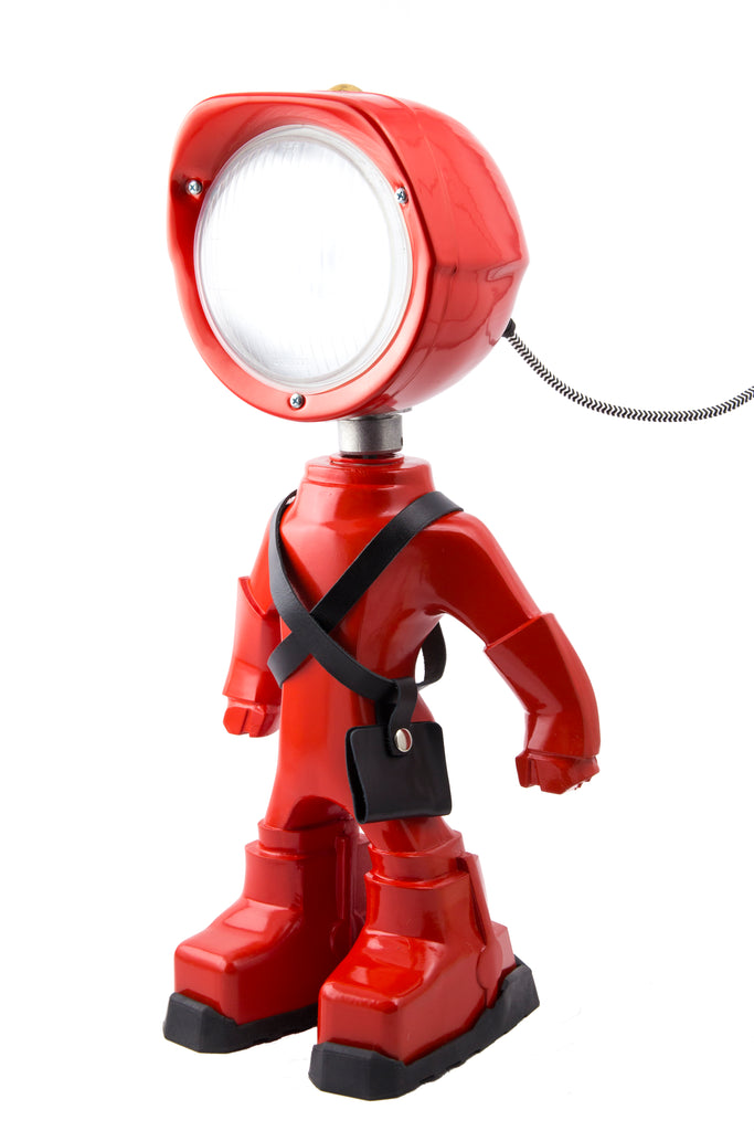 Cool robot lamp Lampster Color Red