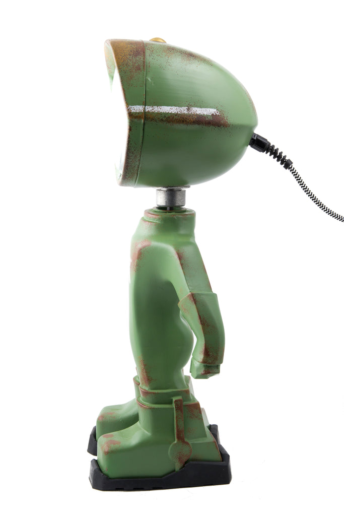 Cool robot lamp Lampster Army Green