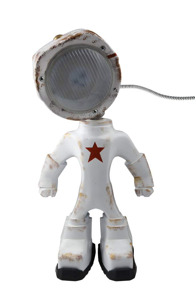 Cool robot lamp Lampster Army White
