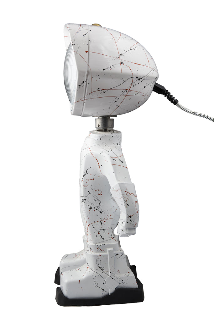 Cool robot lamp Lampster Artsy White