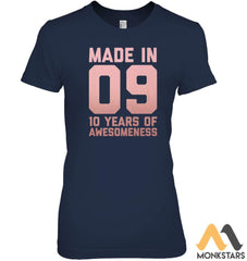 10Th Birthday Shirt Girls Age Ten Gift 10 Year Old Daughter Womens Relaxed Fit Tee