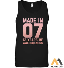 12Th Birthday Shirt Girls Gift Twelve 12 Year Old Daughter Canvas Unisex Ringspun Tank Black
