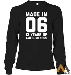 13Th Birthday Shirt Teen Girls Boy Gift 13 Year Old Daughter Unisex Long Sleeve Classic Tee