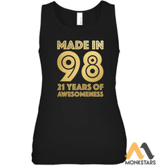 21St Birthday Shirt Women Men Age 21 Year Old Gift Son Mens Bella Womens Fitted Tank
