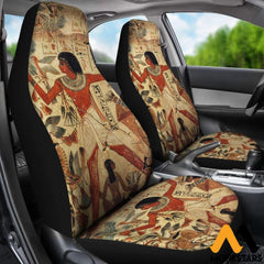 2Pcs Ancient Egyptian Words Car Seat Cover Covers