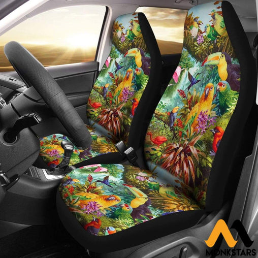 2Pcs Birds Car Seat Cover Covers