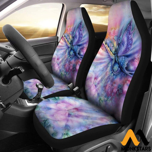 2Pcs Butterfly Car Seat Cover Covers