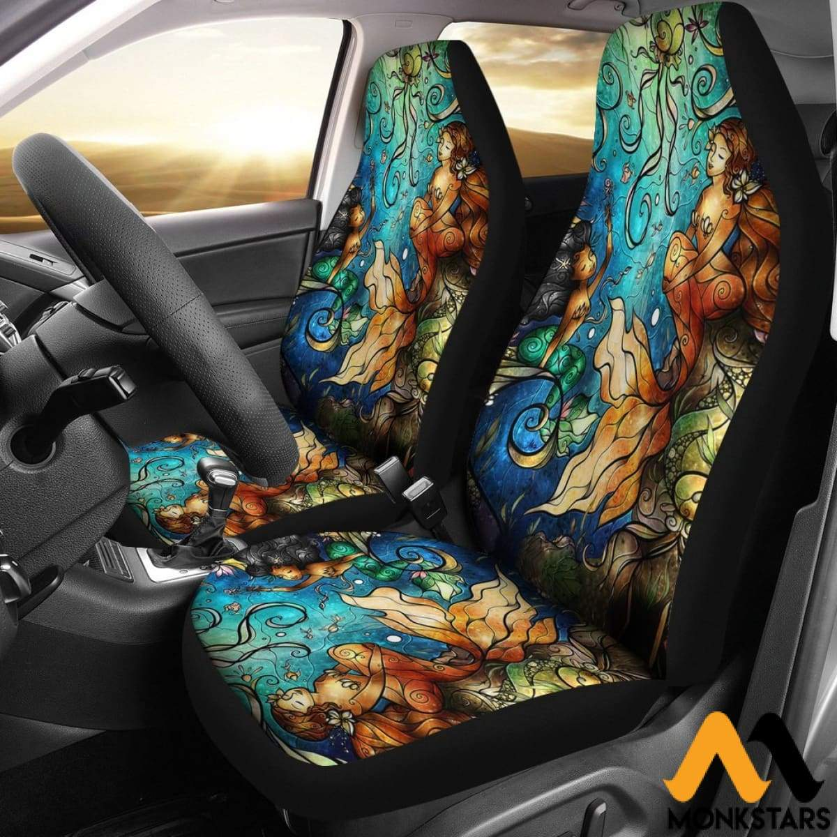 2Pcs Fairy Tale Car Seat Cover Covers