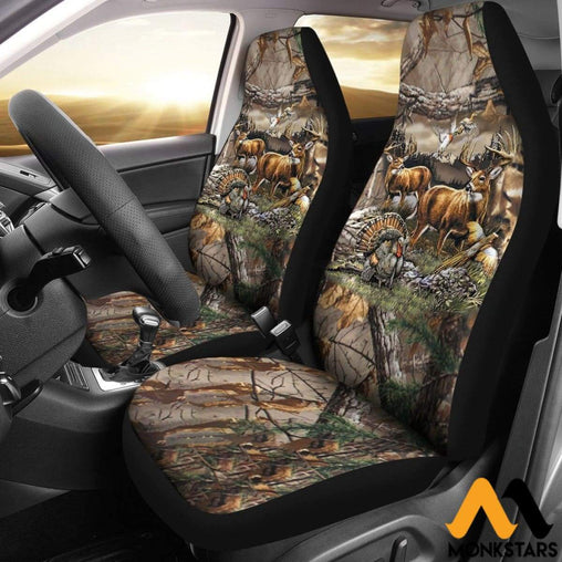 2Pcs Hunting Car Seat Cover Covers