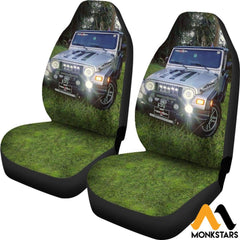 2Pcs Jeep Car Seat Cover Covers