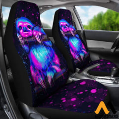 2Pcs Sloth Car Seat Covers Atgl210401