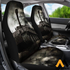 2Pcs Tiger Tank Car Seat Cover Covers