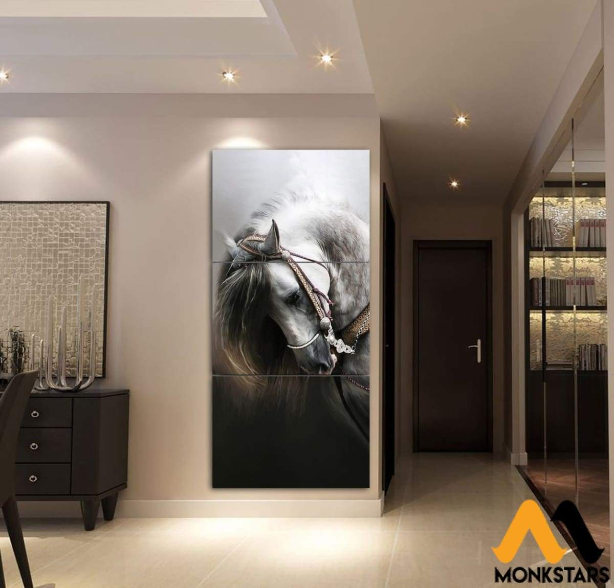 3-Piece Beautiful Horse Canvas Wall Art Ctm130315 Painting & Calligraphy