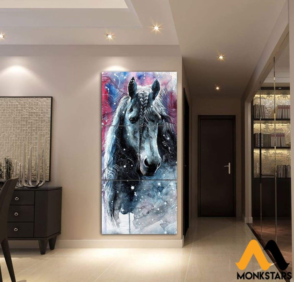 3-Piece Beautiful Horse Canvas Wall Art Ctm130316 Painting & Calligraphy