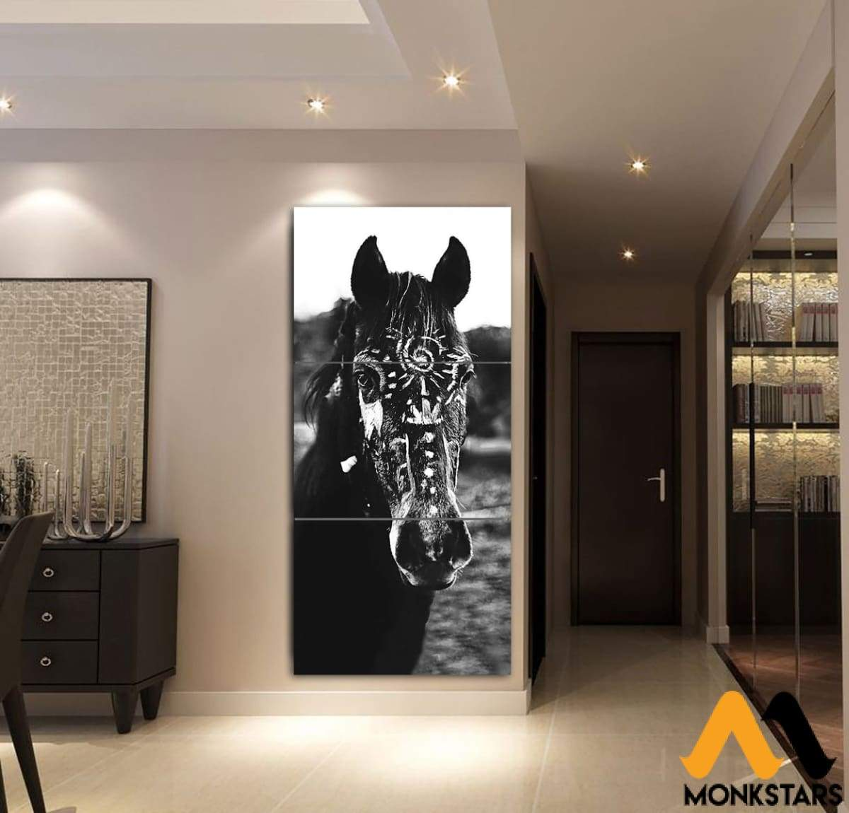 3-Piece Beautiful Horse Canvas Wall Art Gtk390302 Painting & Calligraphy