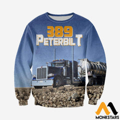 3D All Over Printed 389 Peterbilt Tops Long-Sleeved Shirt / Xs Clothes