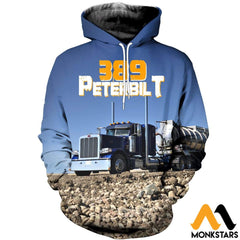 3D All Over Printed 389 Peterbilt Tops Normal Hoodie / Xs Clothes