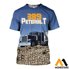 3D All Over Printed 389 Peterbilt Tops T-Shirt / Xs Clothes