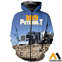 3D All Over Printed 389 Peterbilt Tops Zipped Hoodie / Xs Clothes