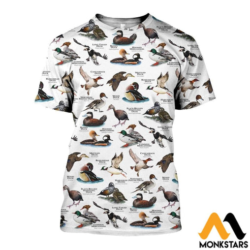 3D All Over Printed A Lot Of Ducks Shirts And Shorts T-Shirt / Xs Clothes