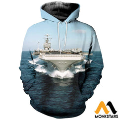 3D All Over Printed Aircraft Carriers T-Shirt Hoodie Sctl130403 Normal / Xs Clothes