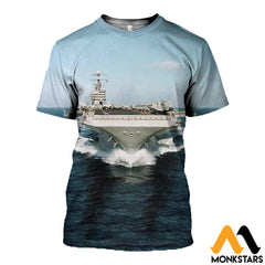 3D All Over Printed Aircraft Carriers T-Shirt Hoodie Sctl130403 / Xs Clothes