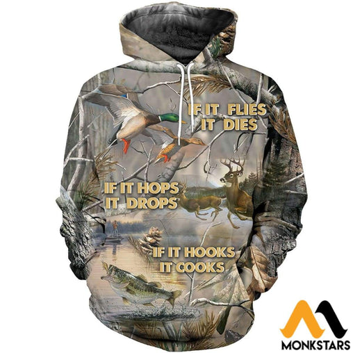 3D All Over Printed Amazing Hunting Shirts And Shorts Normal Hoodie / Xs Clothes