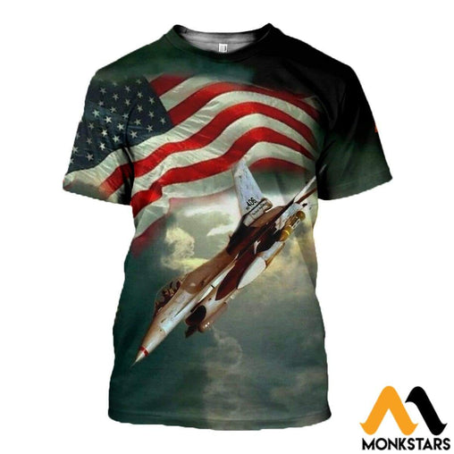 3D All Over Printed American Freedom Clothes T-Shirt / Xs