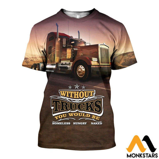3D All Over Printed American Truck Shirts And Shorts Snuk311003 T-Shirt / Xs Clothes