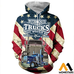3D All Over Printed American Trucker Shirts And Shorts Normal Hoodie / Xs Clothes